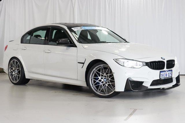 Used BMW M3 F80 LCI Competition M-DCT Wangara, 2016 BMW M3 F80 LCI Competition M-DCT White 7 Speed Sports Automatic Dual Clutch Sedan