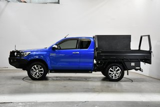 2015 Toyota Hilux GUN126R SR5 Extra Cab Blue 6 Speed Manual Utility.
