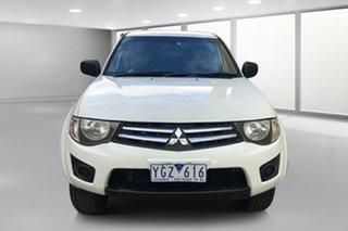 2011 Mitsubishi Triton MN MY11 GL-R Double Cab White 4 Speed Automatic Utility.