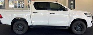 2019 Toyota Hilux GUN136R SR Double Cab 4x2 Hi-Rider White 6 Speed Manual Utility.