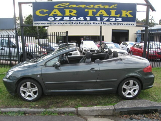 Used Peugeot 307 CC Dynamic Nambour, 2004 Peugeot 307 CC Dynamic Grey 5 Speed Manual Cabriolet