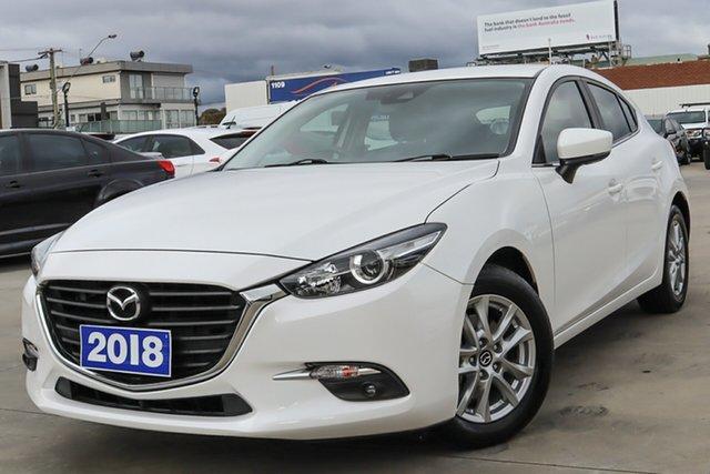 Used Mazda 3 BN5478 Touring SKYACTIV-Drive Coburg North, 2018 Mazda 3 BN5478 Touring SKYACTIV-Drive White 6 Speed Sports Automatic Hatchback