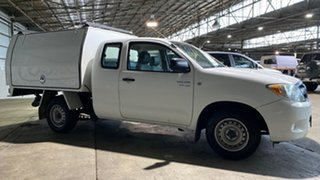2008 Toyota Hilux GGN15R MY08 SR Xtra Cab 4x2 White 5 Speed Automatic Utility.