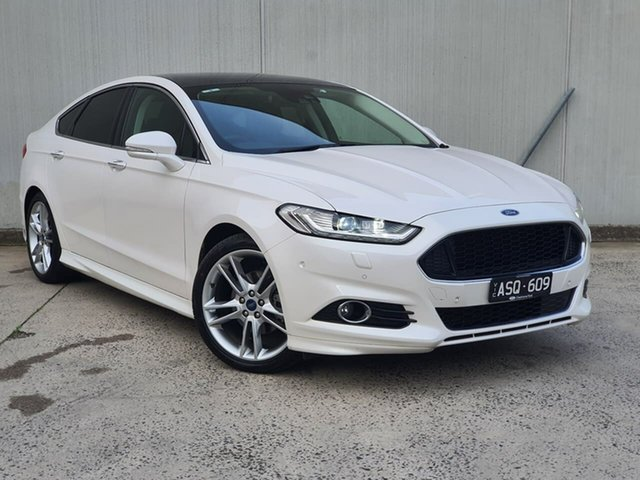 Used Ford Mondeo MD 2018.25MY Titanium Oakleigh, 2018 Ford Mondeo MD 2018.25MY Titanium White 6 Speed Sports Automatic Hatchback