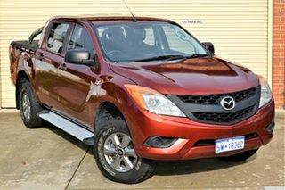 2014 Mazda BT-50 UP0YF1 XTR 4x2 Hi-Rider Red 6 Speed Manual Utility.