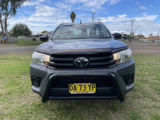 2019 Toyota Hilux TGN121R Workmate 4x2 Silver Sky 6 Speed Sports Automatic Cab Chassis.