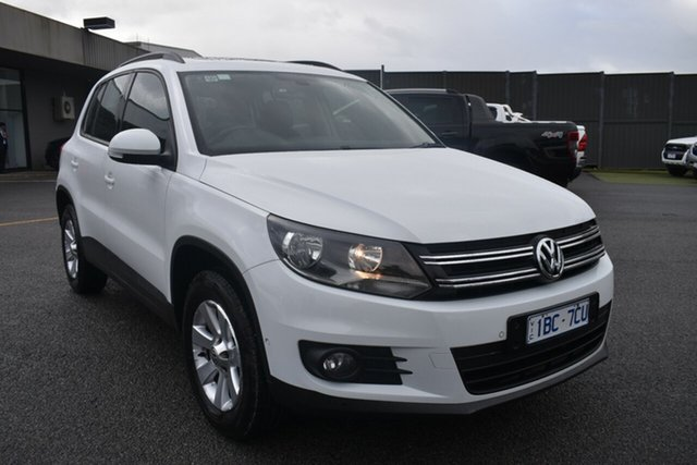 Used Volkswagen Tiguan 5N MY14 132TSI DSG 4MOTION Pacific Wantirna South, 2014 Volkswagen Tiguan 5N MY14 132TSI DSG 4MOTION Pacific White 7 Speed Sports Automatic Dual Clutch