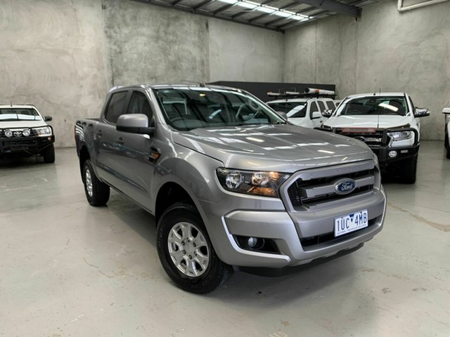 Used Ford Ranger PX MkII XLS Double Cab Coburg North, 2016 Ford Ranger PX MkII XLS Double Cab Grey 6 Speed Sports Automatic Utility