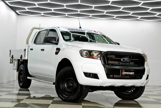 Used Ford Ranger PX MkII MY17 Update XL 3.2 (4x4) Burleigh Heads, 2017 Ford Ranger PX MkII MY17 Update XL 3.2 (4x4) White 6 Speed Automatic Crew Cab Chassis