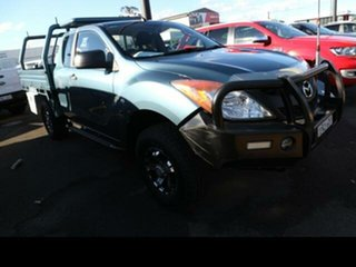 2012 Mazda BT-50 XT (4x4) Green 6 Speed Manual Freestyle Cab Chassis.