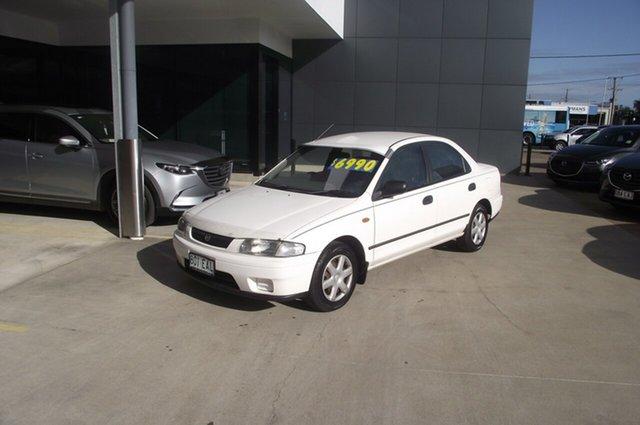 Used Mazda 323 BA11P3 Protege North Rockhampton, 1997 Mazda 323 BA11P3 Protege Polar White 4 Speed Automatic Sedan