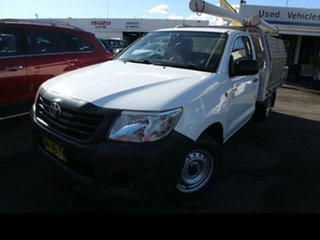 2013 Toyota Hilux TGN16R MY14 Workmate 5 Speed Manual Cab Chassis.