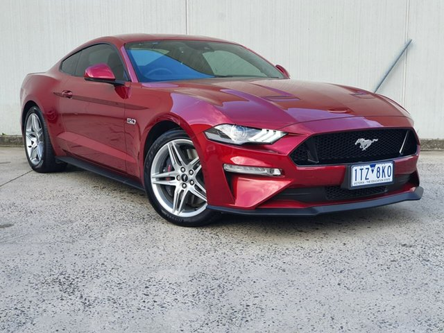 Used Ford Mustang FN 2018MY GT Fastback SelectShift Oakleigh, 2018 Ford Mustang FN 2018MY GT Fastback SelectShift Red 10 Speed Sports Automatic Fastback