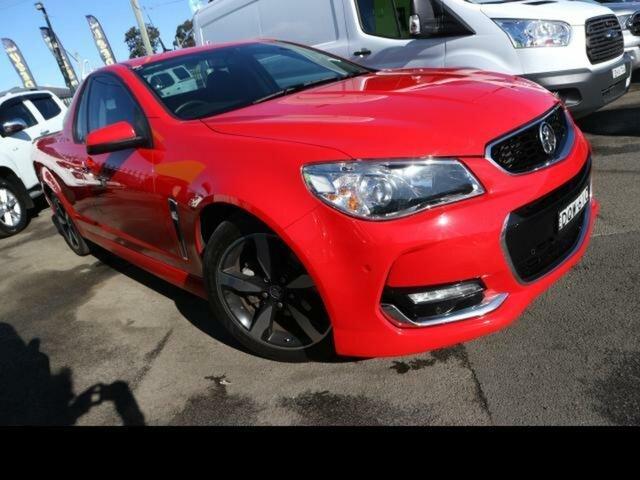 Used Holden Ute VF II SV6 Kingswood, 2017 Holden Ute VF II SV6 Red 6 Speed Automatic Utility