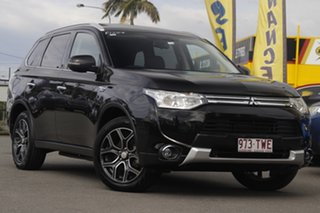 2014 Mitsubishi Outlander ZJ MY14.5 PHEV AWD Aspire Black Pearl 1 Speed Automatic Wagon Hybrid.