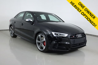 2019 Audi S3 8V MY19 2.0 TFSI Quattro Black 7 Speed Auto S-Tronic Sedan.