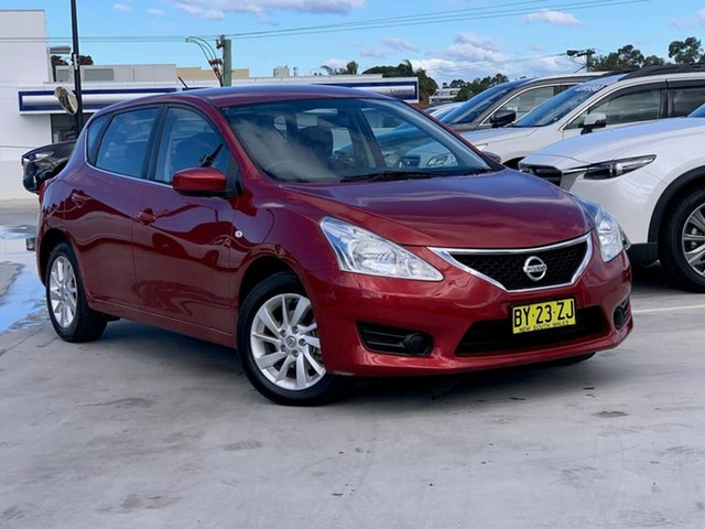 Used Nissan Pulsar C12 ST Liverpool, 2014 Nissan Pulsar C12 ST Red 1 Speed Constant Variable Hatchback