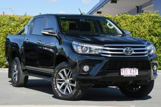 2015 Toyota Hilux GGN25R MY14 SR5 Double Cab Black 5 Speed Automatic Utility.