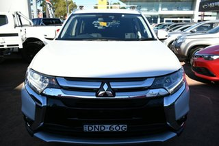 2016 Mitsubishi Outlander ZK MY17 LS Safety Pack (4x4) 7 Seats White Continuous Variable Wagon
