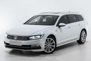 2017 Volkswagen Passat 3C (B8) MY18 206TSI DSG 4MOTION R-Line White 6 Speed.