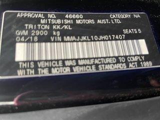 2018 Mitsubishi Triton Blackline Black Manual Dual Cab Utility