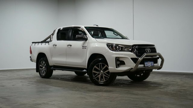 Used Toyota Hilux GUN126R SR5 Double Cab Welshpool, 2018 Toyota Hilux GUN126R SR5 Double Cab White 6 Speed Sports Automatic Utility
