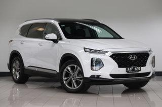 2018 Hyundai Santa Fe TM MY19 Highlander Pearl White 8 Speed Sports Automatic Wagon.