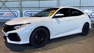 2017 Honda Civic 10th Gen MY17 VTi White 1 Speed Constant Variable Hatchback.