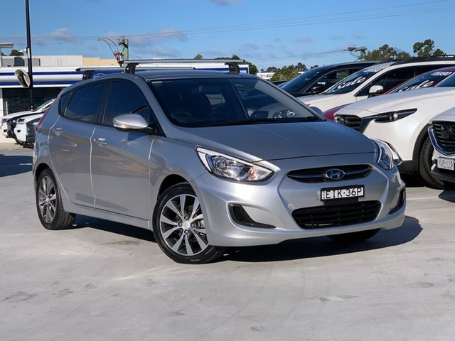 Used Hyundai Accent RB3 MY16 Active Liverpool, 2016 Hyundai Accent RB3 MY16 Active Silver 6 Speed Constant Variable Hatchback