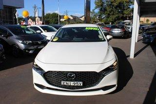 2020 Mazda 3 BP2S7A G20 SKYACTIV-Drive Evolve White 6 Speed Sports Automatic Sedan