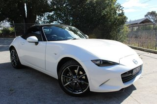 2017 Mazda MX-5 ND GT SKYACTIV-Drive White 6 Speed Sports Automatic Roadster.