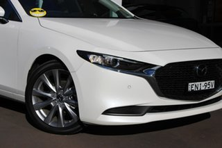 2020 Mazda 3 BP2S7A G20 SKYACTIV-Drive Evolve White 6 Speed Sports Automatic Sedan.