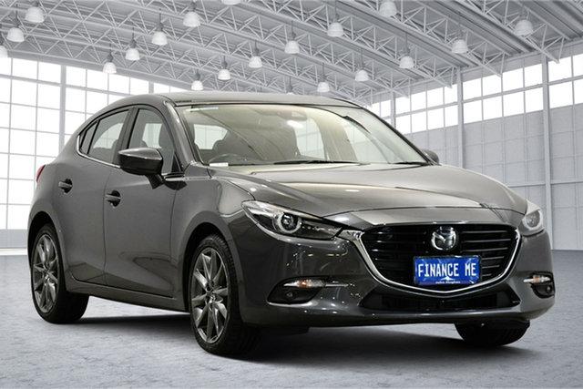 Used Mazda 3 BN5438 SP25 SKYACTIV-Drive Astina Victoria Park, 2017 Mazda 3 BN5438 SP25 SKYACTIV-Drive Astina Grey 6 Speed Sports Automatic Hatchback