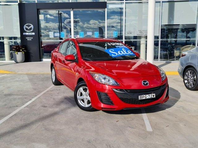 Used Mazda 3 BL10F1 Neo Activematic Kirrawee, 2010 Mazda 3 BL10F1 Neo Activematic Red 5 Speed Sports Automatic Sedan
