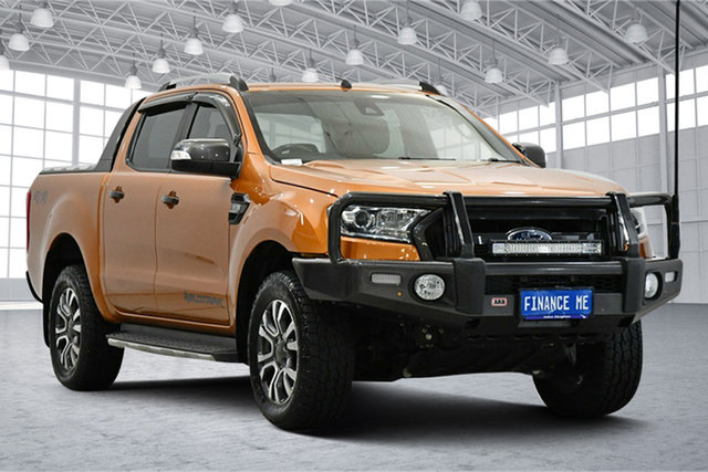 Used Ford Ranger PX MkII Wildtrak Double Cab Victoria Park, 2017 Ford Ranger PX MkII Wildtrak Double Cab Orange 6 Speed Sports Automatic Utility