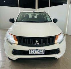 2018 Mitsubishi Triton MQ MY18 GLX Double Cab White 6 Speed Manual Utility.
