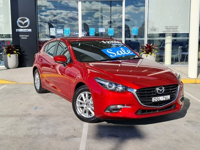Used Mazda 3 BN5478 Maxx SKYACTIV-Drive Kirrawee, 2017 Mazda 3 BN5478 Maxx SKYACTIV-Drive Red 6 Speed Sports Automatic Hatchback