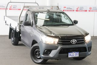 2015 Toyota Hilux TGN121R Workmate Graphite 5 Speed Manual Cab Chassis.