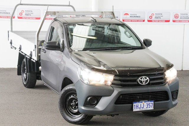 Pre-Owned Toyota Hilux TGN121R Workmate Myaree, 2015 Toyota Hilux TGN121R Workmate Graphite 5 Speed Manual Cab Chassis