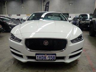 2015 Jaguar XE Prestige White Diamond 8 Speed Automatic Sedan.