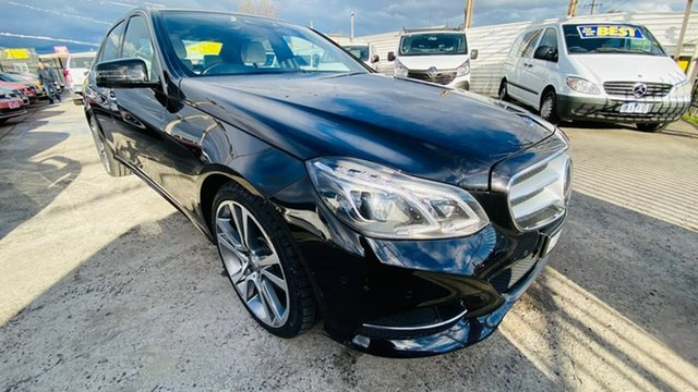 Used Mercedes-Benz E-Class W212 MY13 E400 7G-Tronic + Maidstone, 2013 Mercedes-Benz E-Class W212 MY13 E400 7G-Tronic + Black 7 Speed Sports Automatic Sedan