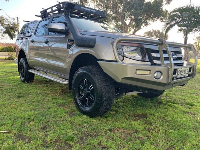 Used Ford Ranger PX XLT Double Cab Cheltenham, 2014 Ford Ranger PX XLT Double Cab Champagne 6 Speed Sports Automatic Utility