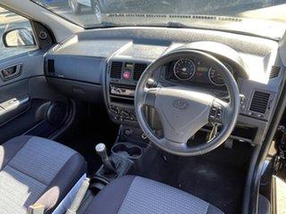 2010 Hyundai Getz TB MY09 SX Black 5 Speed Manual Hatchback.