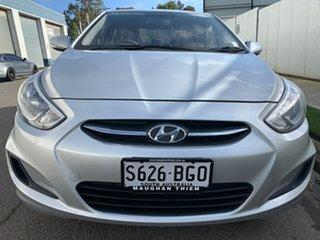 2015 Hyundai Accent RB2 MY15 Active Silver 6 Speed Manual Sedan