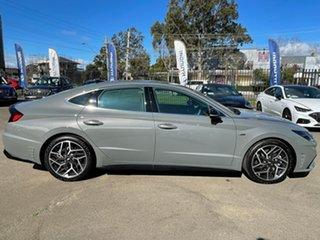 2020 Hyundai Sonata DN8.V1 MY21 N Line Hampton Grey 8 Speed Auto Dual Clutch Sedan.