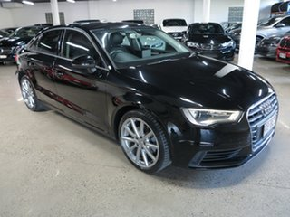 2015 Audi A3 8V MY15 Attraction S Tronic Black 7 Speed Sports Automatic Dual Clutch Sedan.