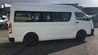 2012 Toyota HiAce KDH223R MY12 Commuter High Roof Super LWB White 4 Speed Automatic Bus.