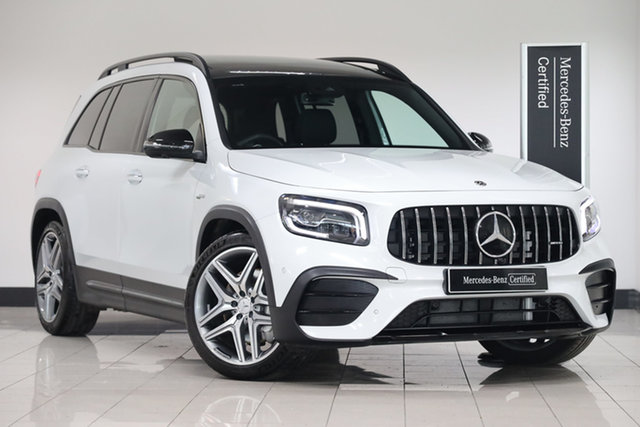 Certified Pre-Owned Mercedes-Benz GLB-Class X247 800+050MY GLB35 AMG SPEEDSHIFT DCT 4MATIC Mulgrave, 2020 Mercedes-Benz GLB-Class X247 800+050MY GLB35 AMG SPEEDSHIFT DCT 4MATIC Digital White 8 Speed