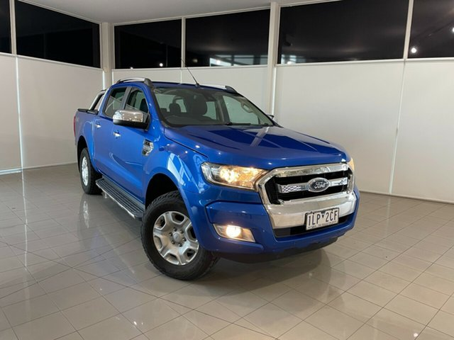 Used Ford Ranger PX MkII XLT Double Cab Deer Park, 2017 Ford Ranger PX MkII XLT Double Cab Blue 6 Speed Sports Automatic Utility