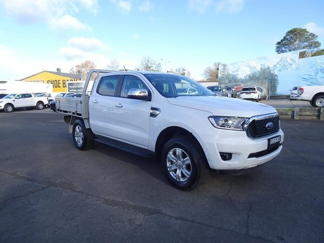 Used Ford Ranger PX MkIII 2021.25MY XLT Nowra, 2020 Ford Ranger PX MkIII 2021.25MY XLT Antarctic White 6 Speed Manual Double Cab Pick Up